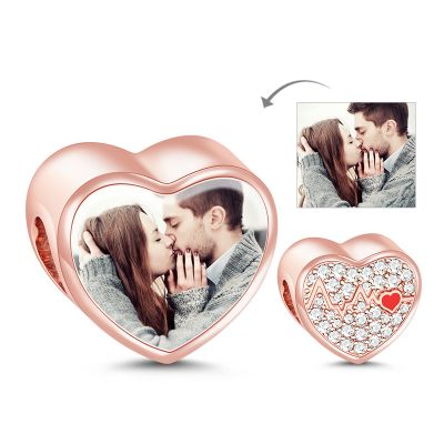 Beating Heart Photo Charm