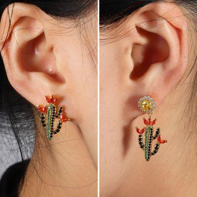 Multicolour Cactus Earrings