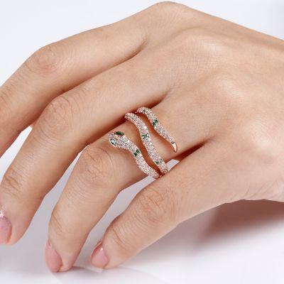 Rose Gold Snake Ring