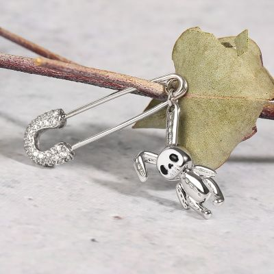 Safety Pin Bunny Doll Earring