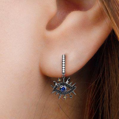 Devil's Eye Black Earrings