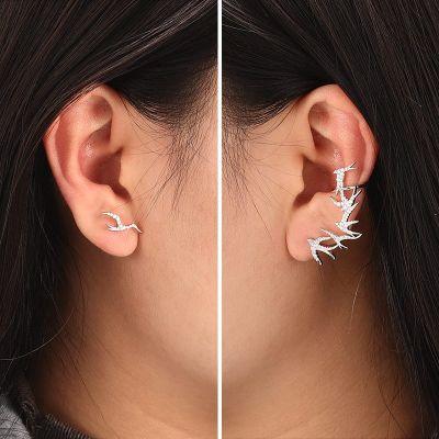 Swallows Asymmetric Earrings