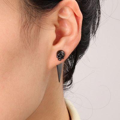 Black Skull Earring Jackets