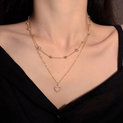 Love Heart Layered Necklace