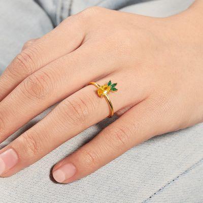 Pineapple Adjustable Ring