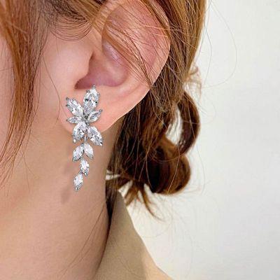 Flower Cluster Dangle Earrings