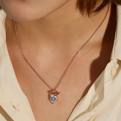 Heart with Crown Necklace