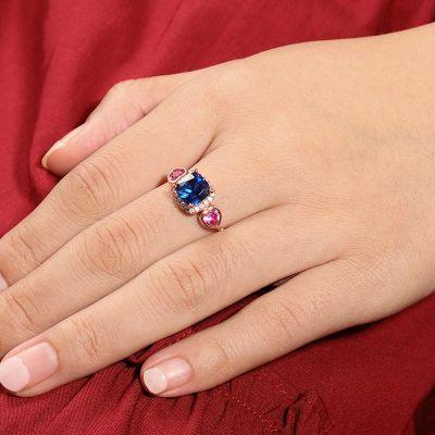 Blue Sapphire Adjustable Ring