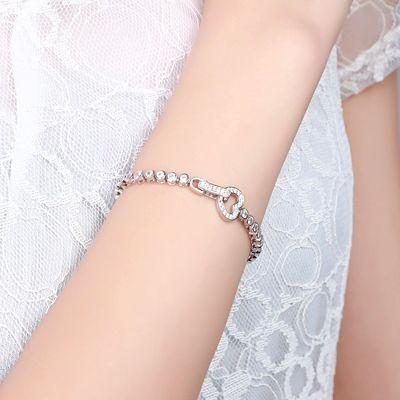 Heart Shape Buckle Tennis Bracelet