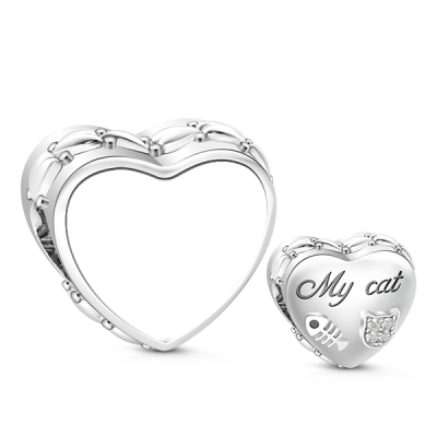 Cat Photo Charm Bracelet