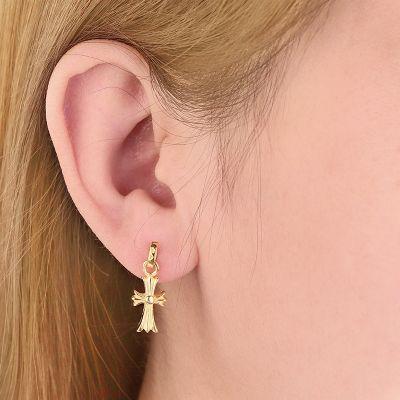 Vintage Dangle Cross Earring