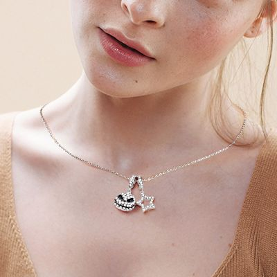 Star & Jack Skull Necklace