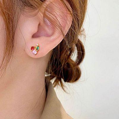 Cherry Stud Earrings 18K Gold Plated