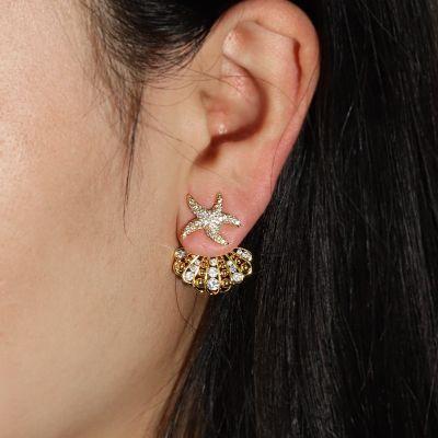 Starfish Shell Ear Jackets