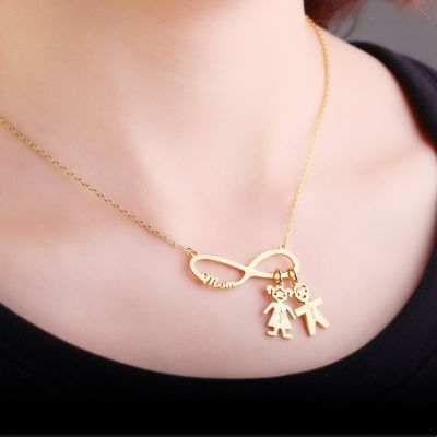 Kids Charm Infinity Necklace