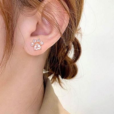 Paw Shaped Stud Earrings