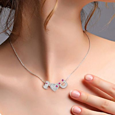 I Love You Charm Set Necklace