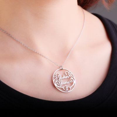 Personalized Two Name Necklace