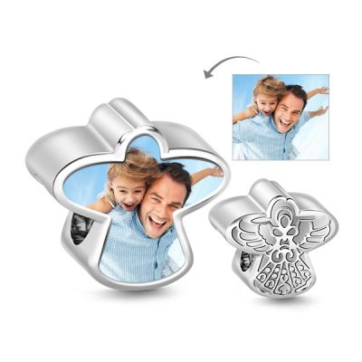 Guardian Angel Photo Charm
