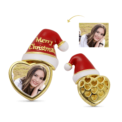 Christmas Hat Photo Charm