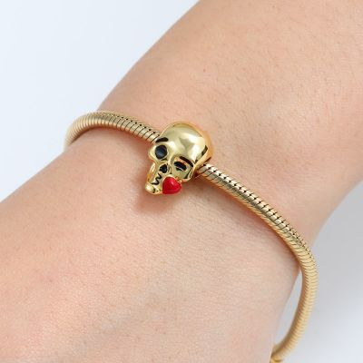 Blowing Kiss Skull Charm