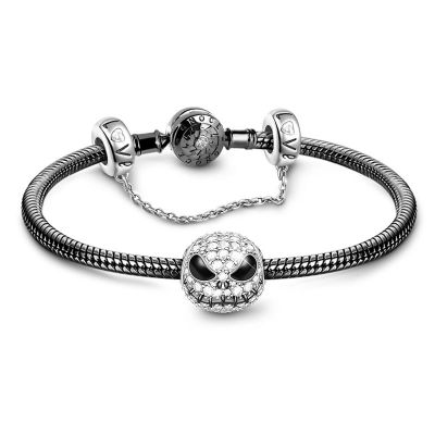 Skull Safety Chain Bracelet