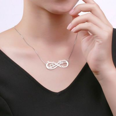 5 Names Infinity Necklace