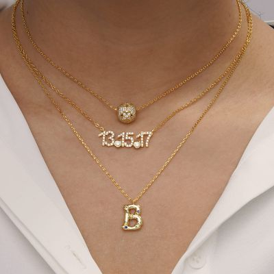 Bamboo Initial B Necklace