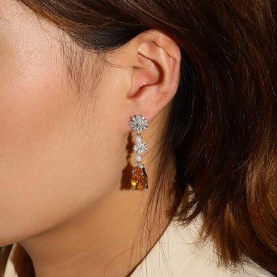Fire Opal Drop Earrings