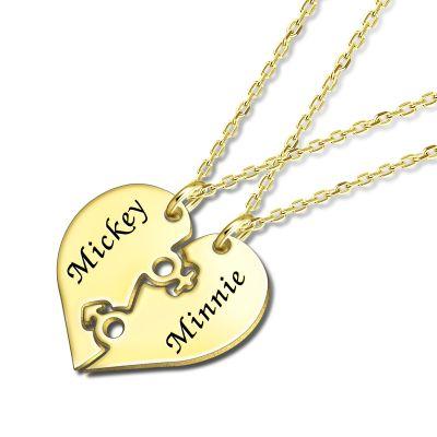 Couple Heart Engravable Necklace