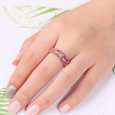Pink Crystal Eternity Ring