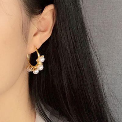 Pearl Wreath Hoop Earrings