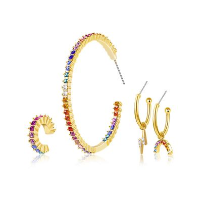 Rainbow Earrings Set