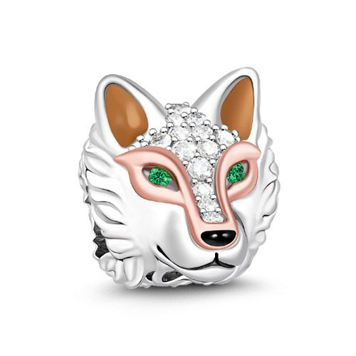 Sterling Silver Wolf Bead Charm