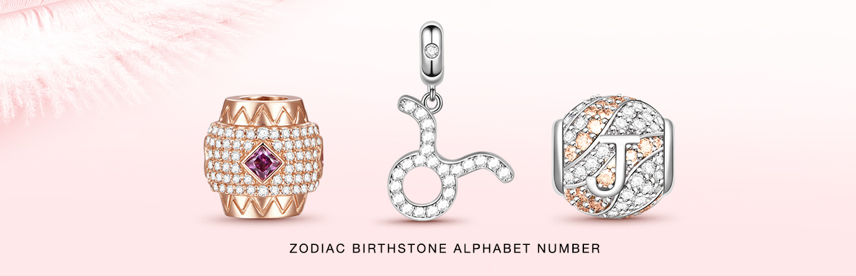 Zodiac Birthstone Alphabet Number